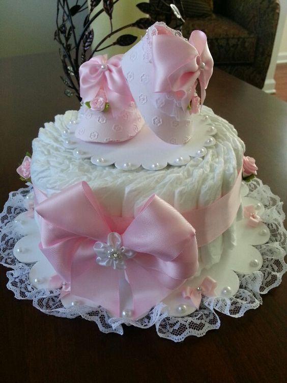 Decoracion de pasteles con pañales
