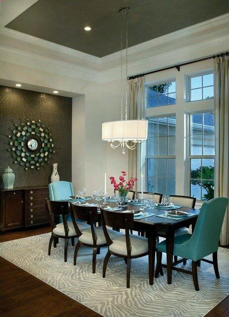 Decoracion de interiores en color verde azulado 1 for Decoracion de interiores verde