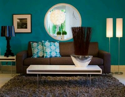 Decoracion de interiores en color verde azulado 21 for Decoracion de interiores verde