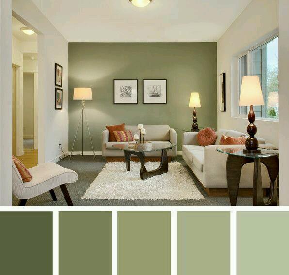 Decoracion de interiores en verde olivo y militar Colores minimalistas para interiores