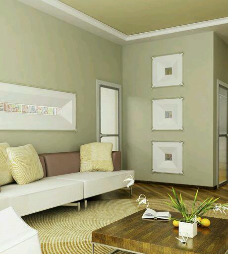 Decoracion de interiores en verde olivo y militar 25 for Colores para casas pequenas interiores