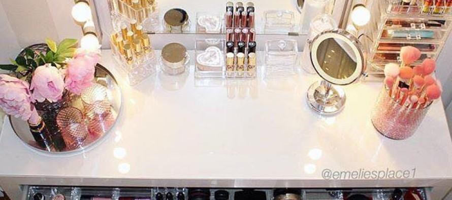 Evita que tu maquillaje y brochas se maltraten – 15 ideas para organizarlos