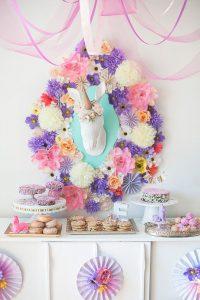 Ideas para decorar una fiesta de cumpleaños de unicornios (1)