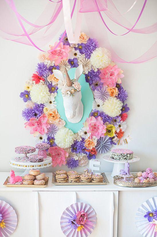 diseño de cumpleaños de unicornio