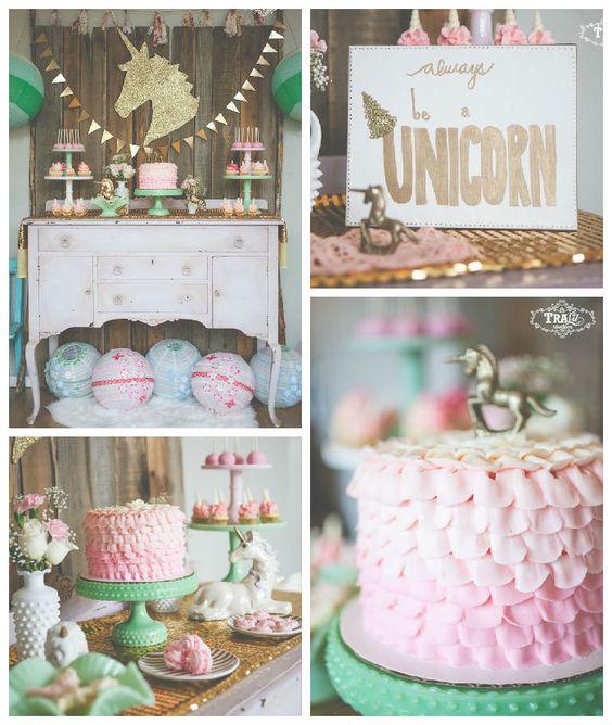 Ideas para decorar una fiesta de cumplea os de unicornios - Ideas para fiestas en casa ...