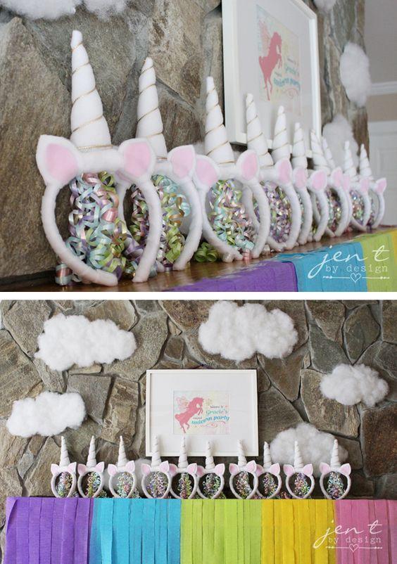 Ideas para decorar una fiesta de cumplea os de unicornios for Decoracion para la pared de unicornio