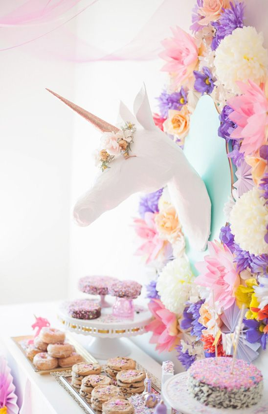 Ideas para decorar una fiesta de cumplea os de unicornios for Cuarto de unicornio
