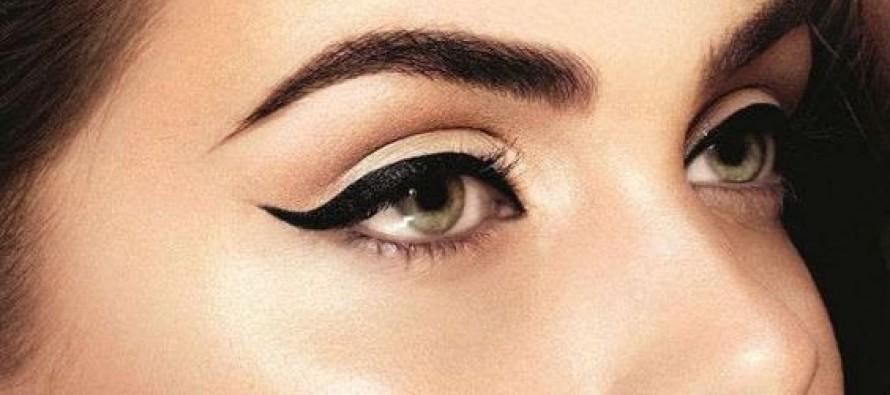 Maquillaje de ojos donde el delineado es el protagonista