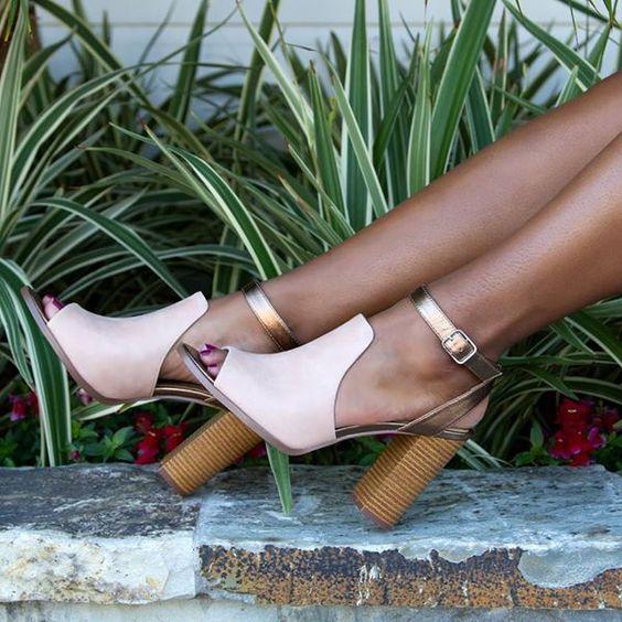 Zapatos de tacon grueso tendencia verano 2016 (2