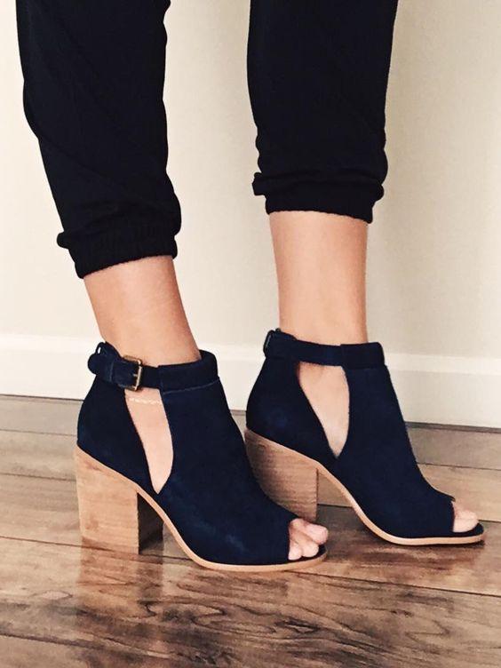 Zapatos de tacon grueso tendencia verano 2016 (12