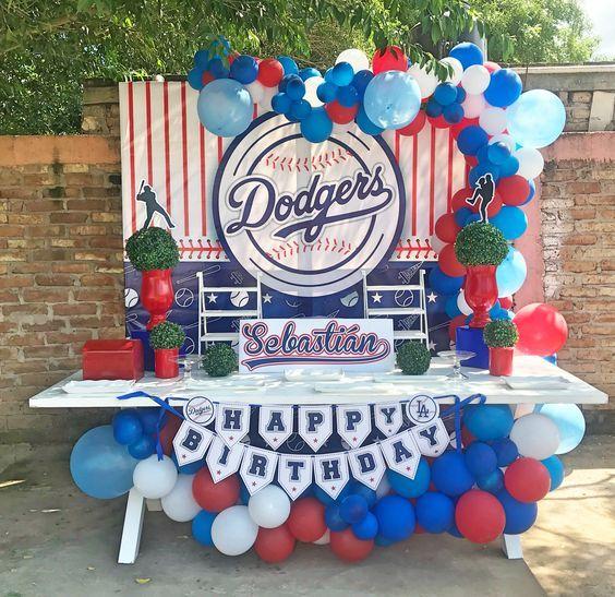 Backdrops para fiesta con tema de béisbol
