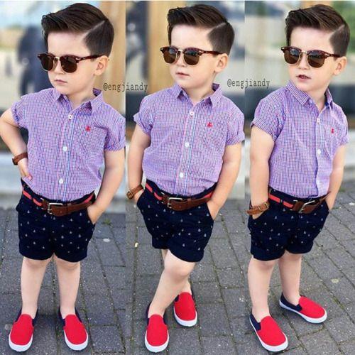 corte de cabello casual para niño