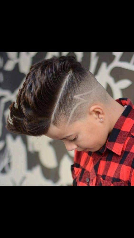 corte de cabello en niños marcado