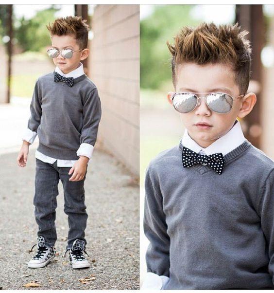 corte de cabello estilo pop en niño