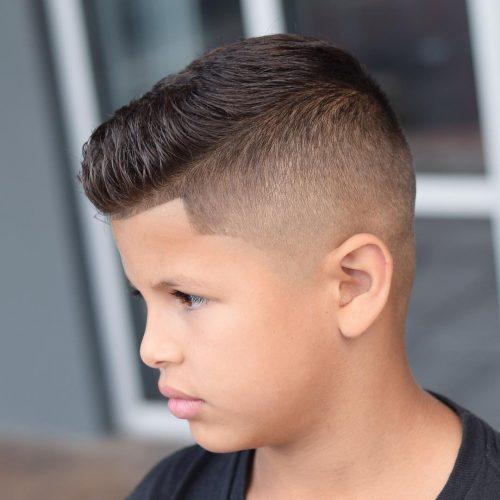 corte de cabello para niño futbolista europeo