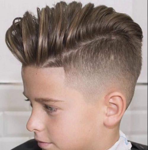 corte de cabello para niño moderno