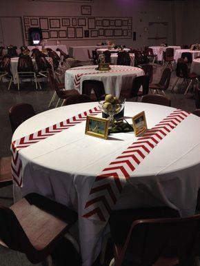 Decoracion de mesa para invitados fiesta de béisbol