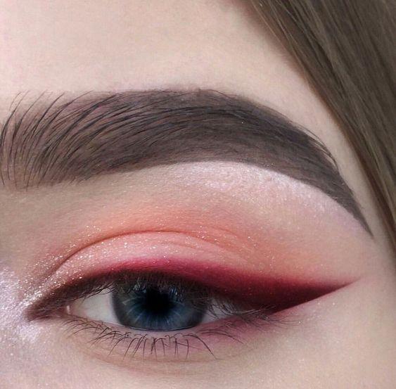 Delineado de ojos de colores