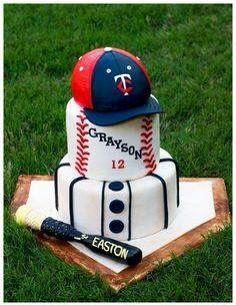 Diseño de pasteles con tema de béisbol