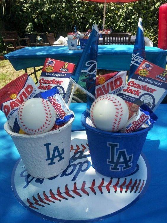 Dulceros para fiesta temática de béisbol