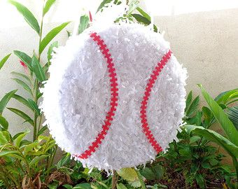 Piñata de béisbol para fiestas infantiles