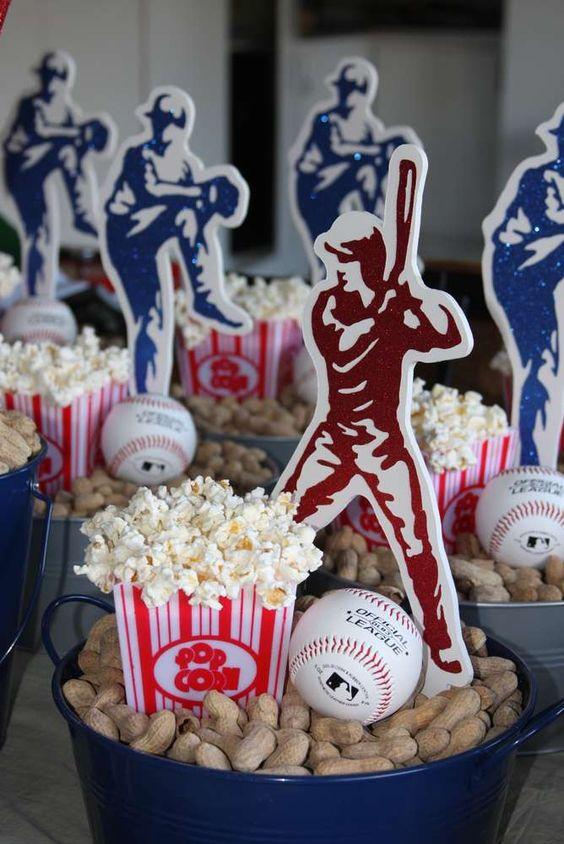 Postres para fiesta con temática de béisbol