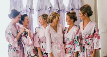 Batas para las damas de honor y la novia