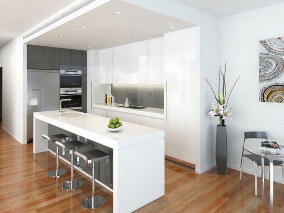 Decoracion de cocinas en color blanco - Cocinas en color blanco ...
