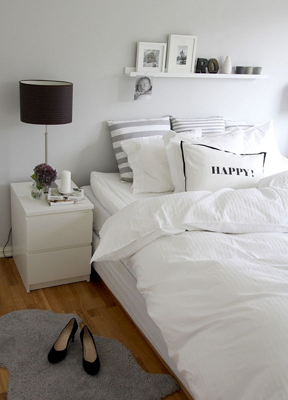 Decoracion de habitaciones en color blanco 13 for Mesillas de habitacion