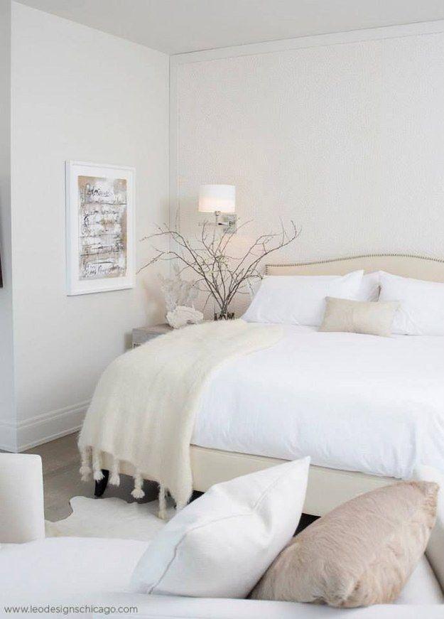 Decoracion de habitaciones en color blanco 9 - Dormitorios en color blanco ...