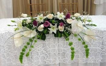 Decoracion de mesa de boda