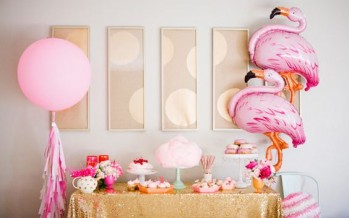 Flamingo baby shower