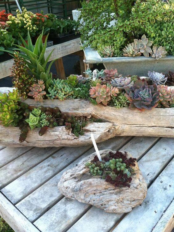 Ideas con troncos para tu jard n 8 decoracion de - Troncos para jardin ...