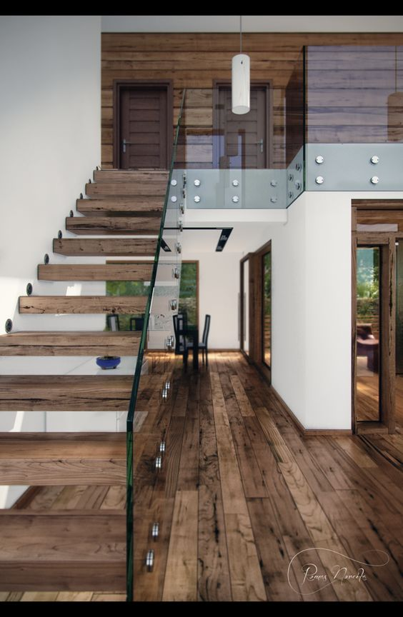 Ideas de dise os de escaleras para interiores modernos 13 for Diseno de escaleras interiores