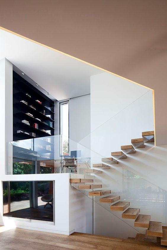 Ideas de dise os de escaleras para interiores modernos 7 for Diseno de escaleras interiores