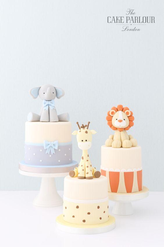 Ideas de pasteles y botanas para baby shower
