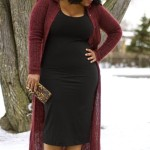 Outfits con vestidos formales para chicas plus size