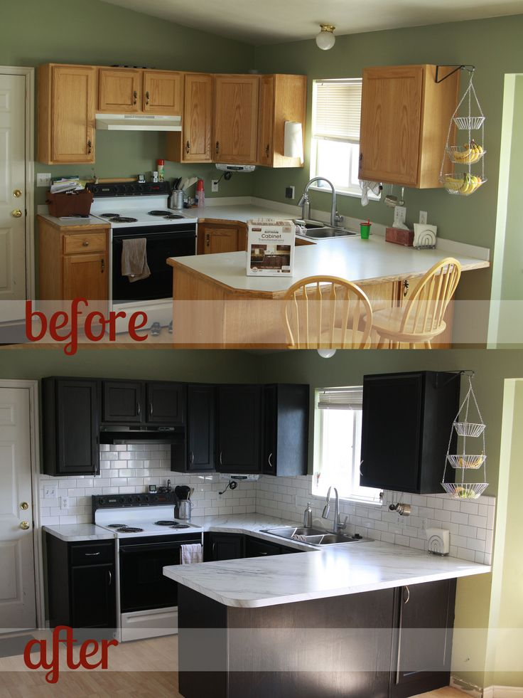 Remodelacion de cocinas antes y despues 37 for How to paint kitchen cupboards before and after pictures