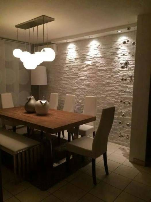 Como decorar comedores modernos - Paredes de piedra para interiores ...