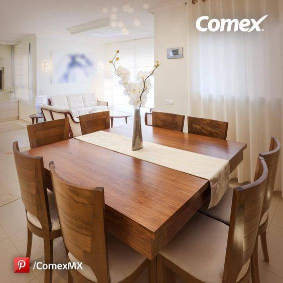 Como decorar comedores modernos for Comedores de madera redondos modernos