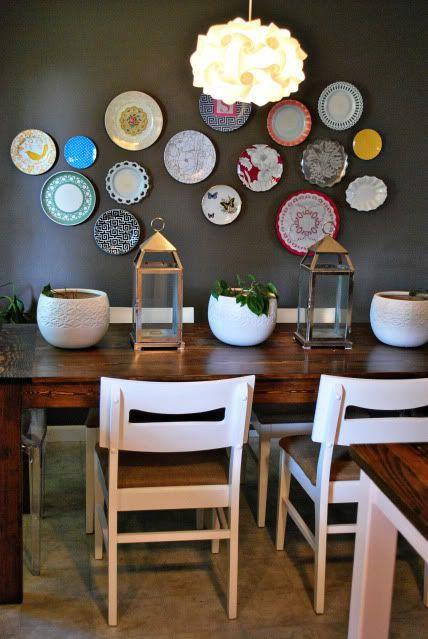 decoracion de paredes con platos y ceramicas (1)