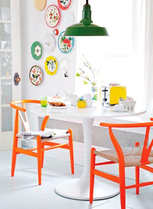decoracion de paredes con platos y ceramicas (3)