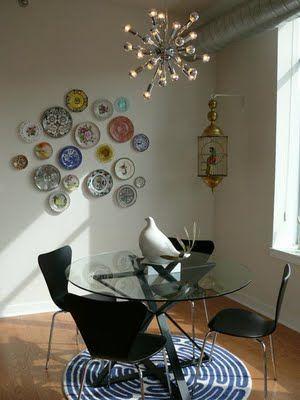 decoracion de paredes con platos y ceramicas (4)