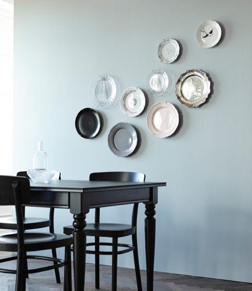 decoracion de paredes con platos y ceramicas