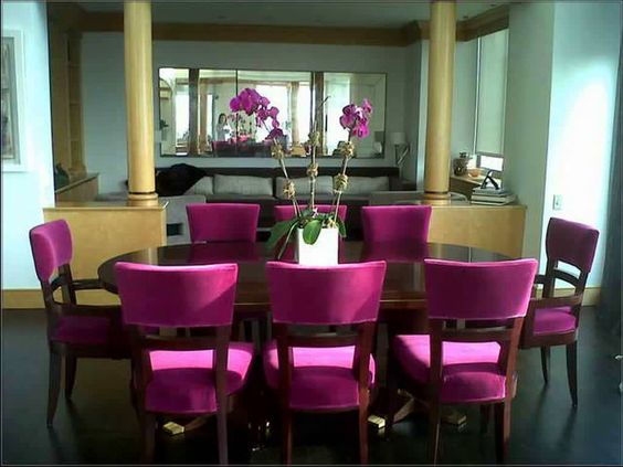 decorar comedores color rosa