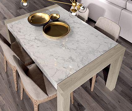 mesas con superficie pulida