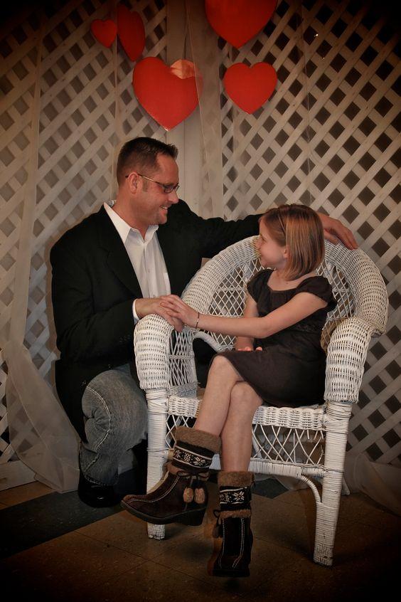 sesion de fotos en estudio papa e hija