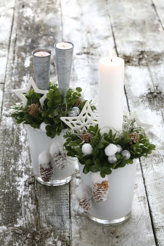 31 centros de mesa naturales navidenos facil de hacer - Arreglos navidenos faciles de hacer ...