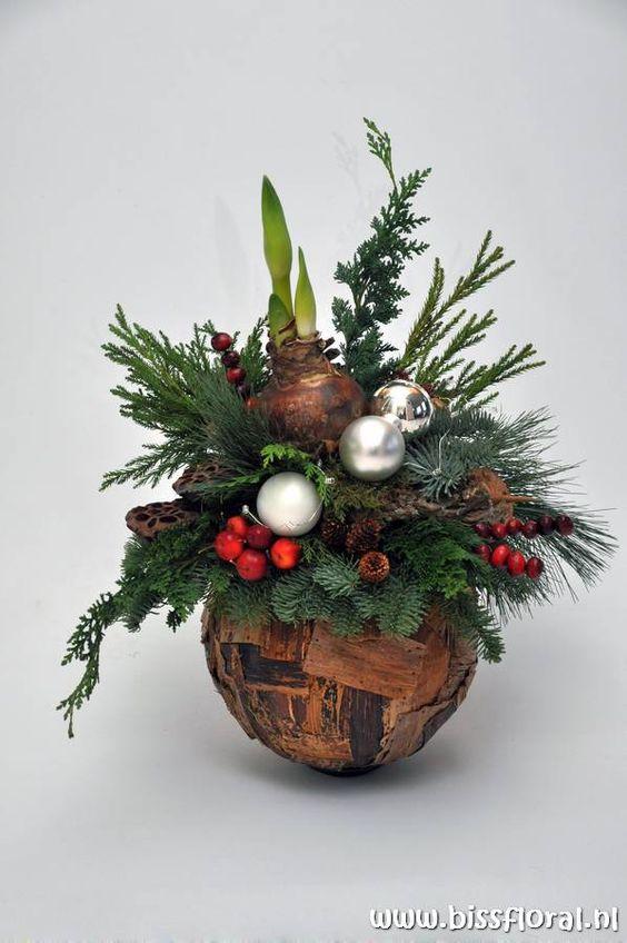 31 centros de mesa naturales navide os f cil de hacer - Arreglos navidenos faciles de hacer ...