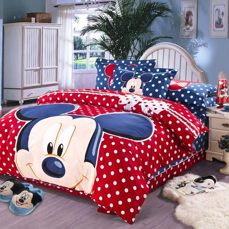 Decoracion de recamaras infantiles con edredones de mickey - Muebles de mickey mouse ...